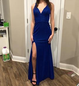 Blue Size 00 Side slit Dress on Queenly