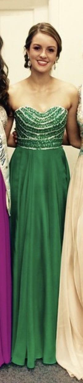 Sherri Hill Green Size 0 Medium Height A-line Dress on Queenly