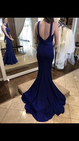 Jadore Blue Size 2 Medium Height Train Dress on Queenly