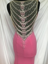 Tiffany Designs Pink Size 0 Side Slit Jewelled Sequin Train Dress on Queenly