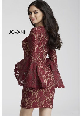 Jovani Red Size 4 Interview Lace Cocktail Dress on Queenly