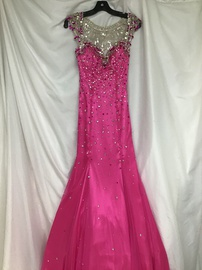 Mori Lee Pink Size 2 Sweetheart Cap Sleeve Jewelled Sequin Mermaid Dress on Queenly