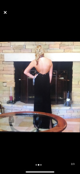 Night Moves Black Size 10 Plunge Prom Side slit Dress on Queenly