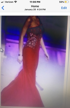 Queenly size 00 Sherri Hill Red Train evening gown/formal dress