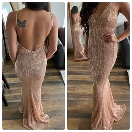 Queenly size 6  Gold Straight evening gown/formal dress