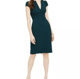 Vince Camuto Green Size 8 Interview Plunge Cocktail Dress on Queenly