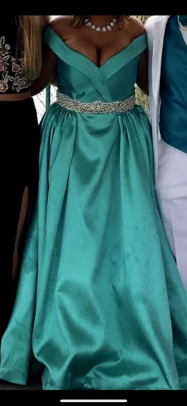 Queenly size 14 Mac Duggal Blue Ball gown evening gown/formal dress