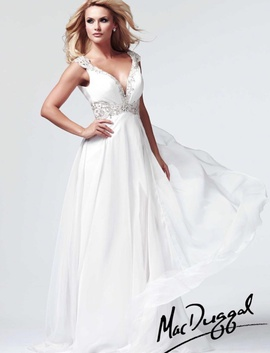 Mac Duggal White Size 2 Macduggal Side slit Dress on Queenly