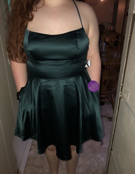 Queenly size 12 Windsor Green A-line evening gown/formal dress
