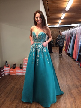 Queenly size 0 Tiffany Designs Blue Ball gown evening gown/formal dress