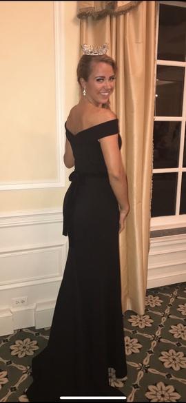 Sherri Hill Black Size 8 Tall Height Belt Straight Dress on Queenly