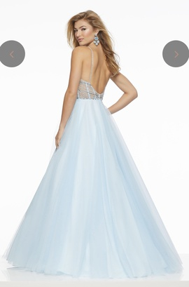 Mori Lee Blue Size 8 Pageant Tall Height Ball gown on Queenly