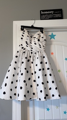Sherri Hill White Size 00 Strapless Homecoming Print Cocktail Dress on Queenly