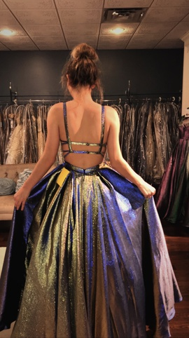 Jovani Multicolor Size 0 Shiny Ball gown on Queenly