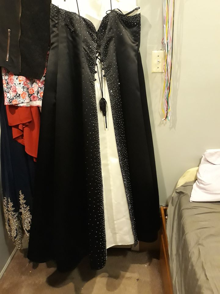 Queenly size 20  Black A-line evening gown/formal dress