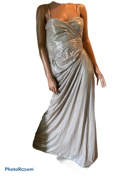 Adrianna Papell Gold Size 6 Polyester Straight Dress on Queenly