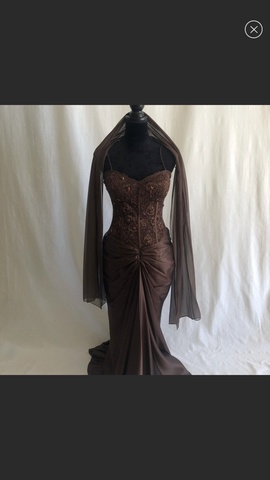 Jovani Nude Size 8 Polyester Corset Mermaid Dress on Queenly