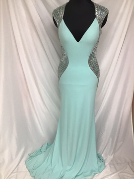 Tony Bowls Blue Size 10 Cap Sleeve Train Dress on Queenly