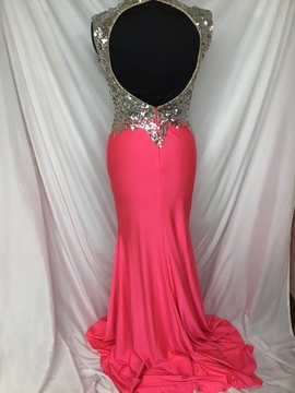 Mac Duggal Pink Size 4 Side Slit Sequin Train Dress on Queenly