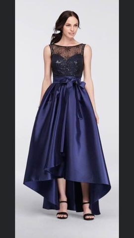 Queenly size 12  Blue Train evening gown/formal dress