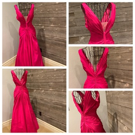 Queenly size 2  Pink A-line evening gown/formal dress