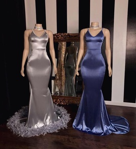 Queenly size 10  Silver Straight evening gown/formal dress