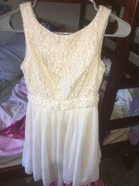 Queenly size 2  Nude Straight evening gown/formal dress