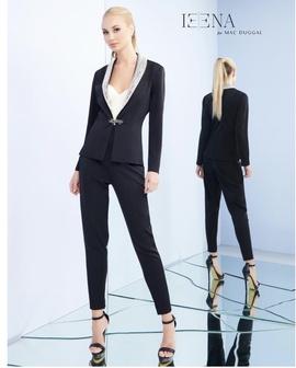 Queenly size 10 Mac Duggal Black Romper/Jumpsuit evening gown/formal dress