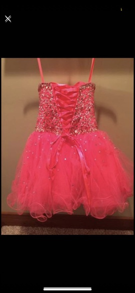 Mori Lee Pink Size 4 Jewelled Strapless Sequin Ball gown on Queenly