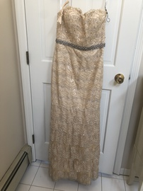 Queenly size 8 Terani Couture Nude Straight evening gown/formal dress