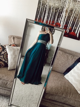 Queenly size 6 Camille La Vie Green Ball gown evening gown/formal dress