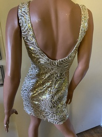 Ark & Co Gold Size 8 Jewelled Sequin Cocktail Dress on Queenly