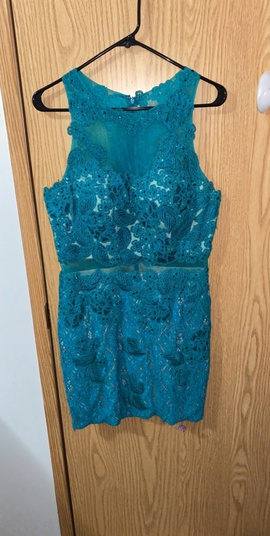 Abby Paris Blue Size 12 Plus Size Homecoming Cocktail Dress on Queenly
