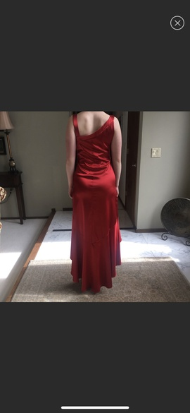 Blondie Nites Red Size 8 Jewelled High Low Straight Dress on Queenly