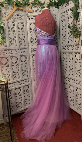 Party Time Formals Purple Size 12 Overskirt Mini Plus Size Ball gown on Queenly