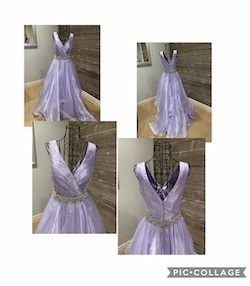 Queenly size 2  Purple Ball gown evening gown/formal dress