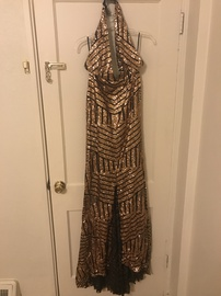 Queenly size 12  Gold Mermaid evening gown/formal dress