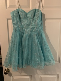 Masquerade Blue Size 6 Cocktail Dress on Queenly