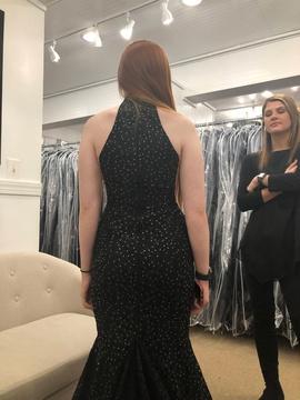 Jovani Black Size 2 Jewelled Train Mermaid Dress on Queenly
