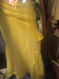 Queenly size 14  Yellow A-line evening gown/formal dress