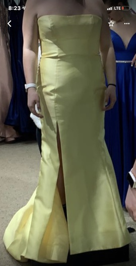 Queenly size 18 Sherri Hill Yellow Mermaid evening gown/formal dress