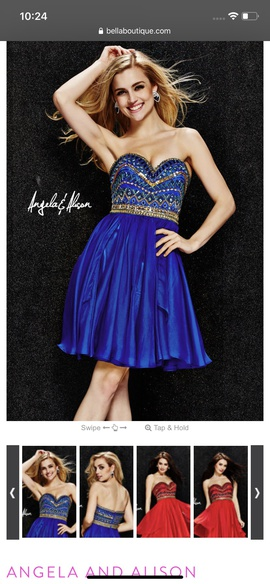 Queenly size 4 Angela & Alison Blue Cocktail evening gown/formal dress