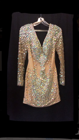Queenly size 8 Angela & Alison Multicolor Cocktail evening gown/formal dress