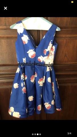 Sherri Hill Multicolor Size 2 Blue Mini Cocktail Dress on Queenly