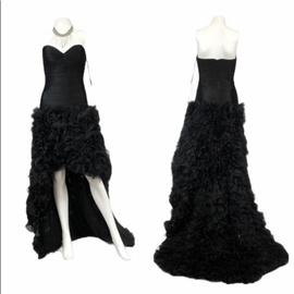 Jovani Black Size 2 Strapless Train Dress on Queenly