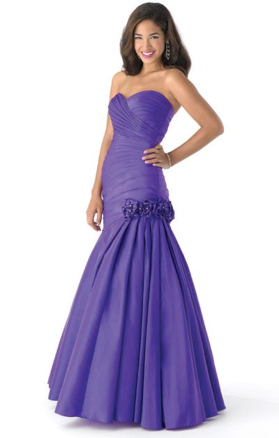 Queenly size 10 Mystique Prom Purple Mermaid evening gown/formal dress