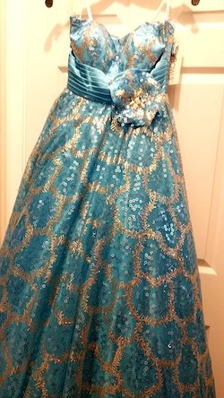 Tony Bowls Blue Size 2 Tall Height A-line Dress on Queenly