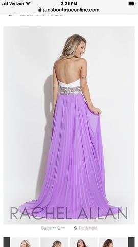 Rachel Allan Purple Size 2 Tulle A-line Train Dress on Queenly