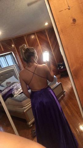 Purple Size 6 Side slit Dress on Queenly