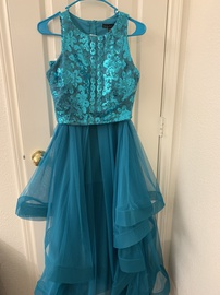 City Triangles Blue Size 6 Homecoming Ball gown on Queenly